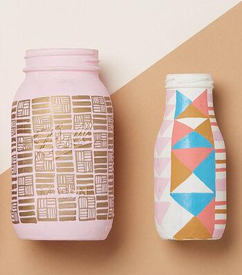 Chalk Painted Ball Jars