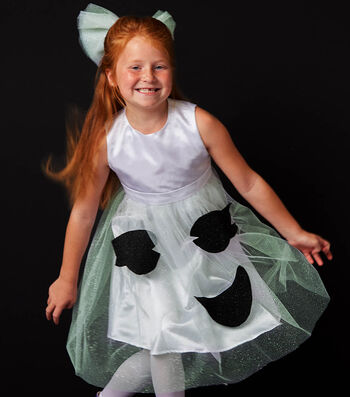 Glow In The Dark Ghost Dress and Bow