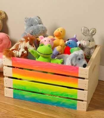 How To Make A Neon Ombre Crate