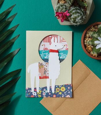 How To Make a Llama Card
