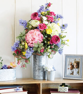 How To Make a Tall Colorful Spring Stem Arrangement