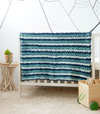 How To Make a Bernat Baby Bundle Knit Lattice Baby Blanket