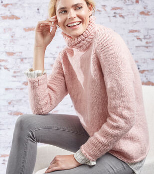 How To Make a RED HEART Dreamy Roomy Relaxed Turtleneck