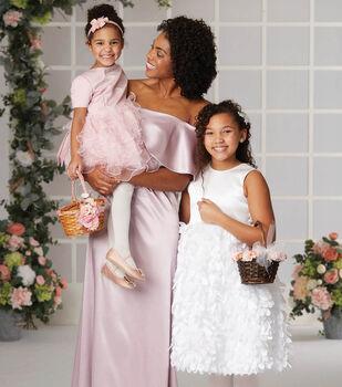 4994ccc576d How To Make a 3D Floral Embellished Flower Girl Dress