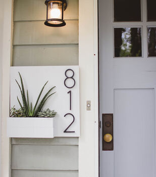 How To Make A Fiskars House Number Display