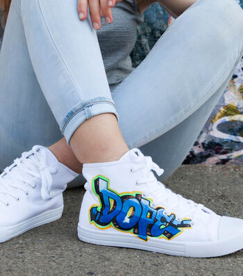 """How To Make A """"Dope"""" Graffiti High-Top Shoes"""