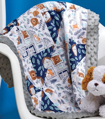 How To Make A Flannel Nursery Blanket with Border