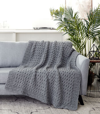 How To Make A Bernat Alize Blanket EZ Textures Blanket