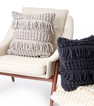 How To Make A Bobble and Fringe Crochet Pillow