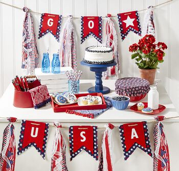 How To Make a USA Fabric Banner