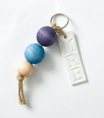 How To Make a Wood Bead Key Chain