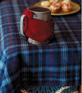 Flannel Throw with Blanket Stitch Edge and Mitten Mug Cozy