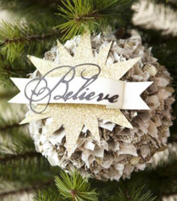 How to Make A Believe Pom Pom Ornament