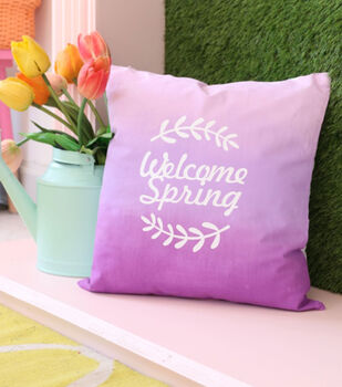 How To Make An Ombre Spring Pillow