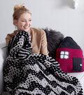 Make A Mosaic Chevron Knit Blanket