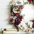 How To Make a Moody Plum Wreath