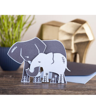 How To Make A Mama & Baby Elephant Cricut Card