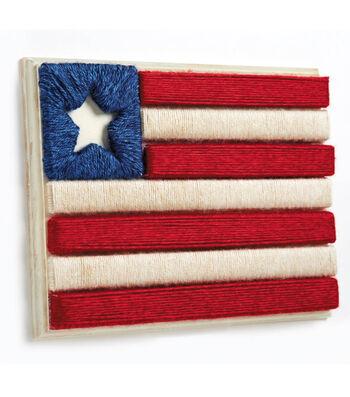 Made In America Flag of Yarn