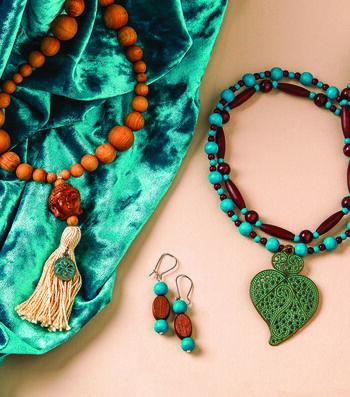 How To Make a Wood Bead Dangle Earrings