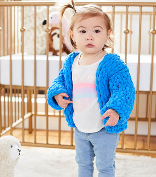 How To Make A Lion Brand Crayola Off The Hook Girl's Cozy Cardi