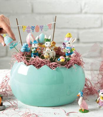 How To make An Easter Fairy Garden in Ceramic Egg