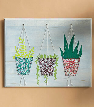 How To Make A Hanging Planters String Art