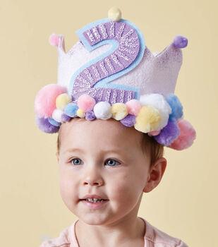 How To Make A Pom Pom Birthday Crown