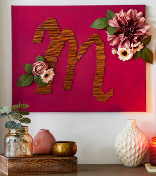 How To Make a Monogrammed Canvas