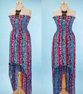 Hi-Low Hem Dress with Bib Necklace