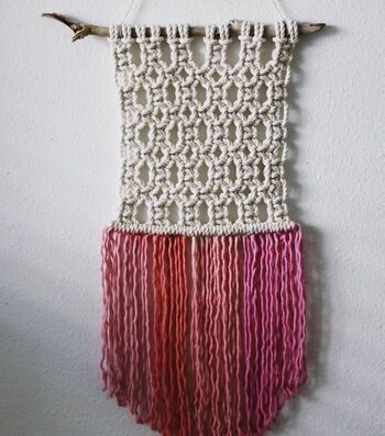 How To Make A Dyed Macramé Wall Hanging