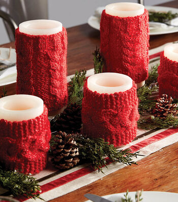 How To Make KNIT CABLE CANDLE COZIES