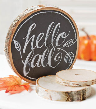 Fall Wood Round Plaque