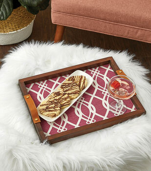 How To Make a Fabric Wood Tray