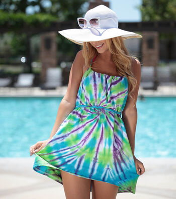 How To Make a No-Sew T-Shirt Tie-Dye Swim Cover-up