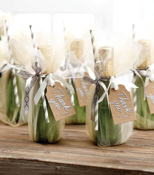 How To Make Tulle Champagne Favors