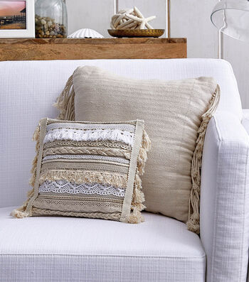 How To Make a Pillow With Braided Topstitched Trim