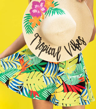 How To Make a Tropical Vibes Sun Hat