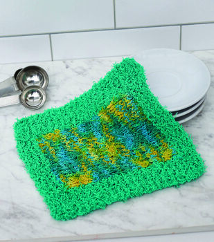 How To Make A Colorblock Knit Washcloth
