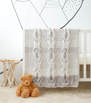 How To Make a Hugs and Kisses Cable Kit Baby Blanket