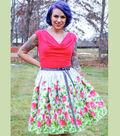 Border Print Wrap Skirt by Gretchen Hirsch