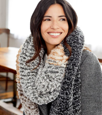 How to Make a Lion Brand Go For Faux Color Blocked Scarf