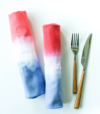 How To Dip Dye July 4th Napkins
