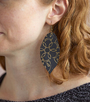 How To Make a Foil Quill Leather Earrings