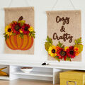 How To Make Fall Felt Floral Signs