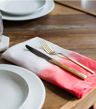 How To Make Dip-Dyed Coral Napkins
