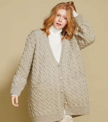 How to Make a Lion Brand Fishermen's Wool Dotsdale Knit Cardigan