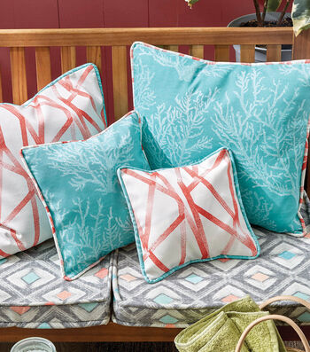 How To Make a Patio Cushions with Coordinating Pillows