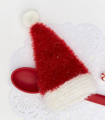 How To Make a Santa Hat Scrubby Sparkle