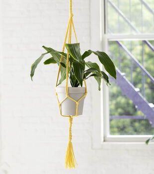 How To Make a Lion Brand Rewind Simple Plant Hanger