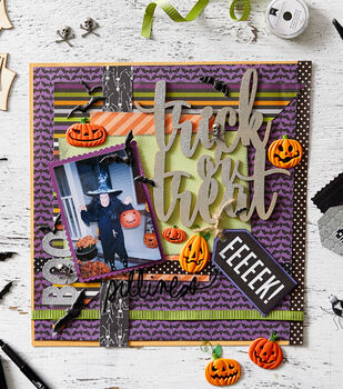 How To Make A Treat or Treat Scrapbook Page
